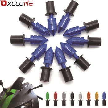 Universal M6 Motorcycle Windshield Spike Bolts Screw Nuts Bolt FOR BMW S1000RR S1000R HP4 R1200GS F650GS F800GS F800R F700GS image