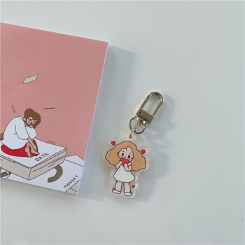 Fashion Kawaii Rabbit Bear Animal Keychain Acrylic Key Chain For Women Japan Flower Bag Charm Key Ring Pendant Gifts Jewelry keychain acrylic man key chain identity v women key ring chain for pants pendant kids key holder jewelry brelok kael invoker