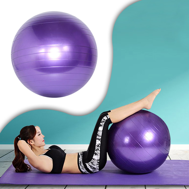Home Fitness Yoga Balls Anti-Pressure Explosion-Proof Gym Balance Exercise Fitball Pilates Workout Massage Ball 75cm 65cm 55cm