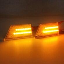 1 par conduziu a luz do carro para opel signum vectra c 2003 2008 turn signal lâmpada dinâmica lado marcador blinker fluindo iluminação