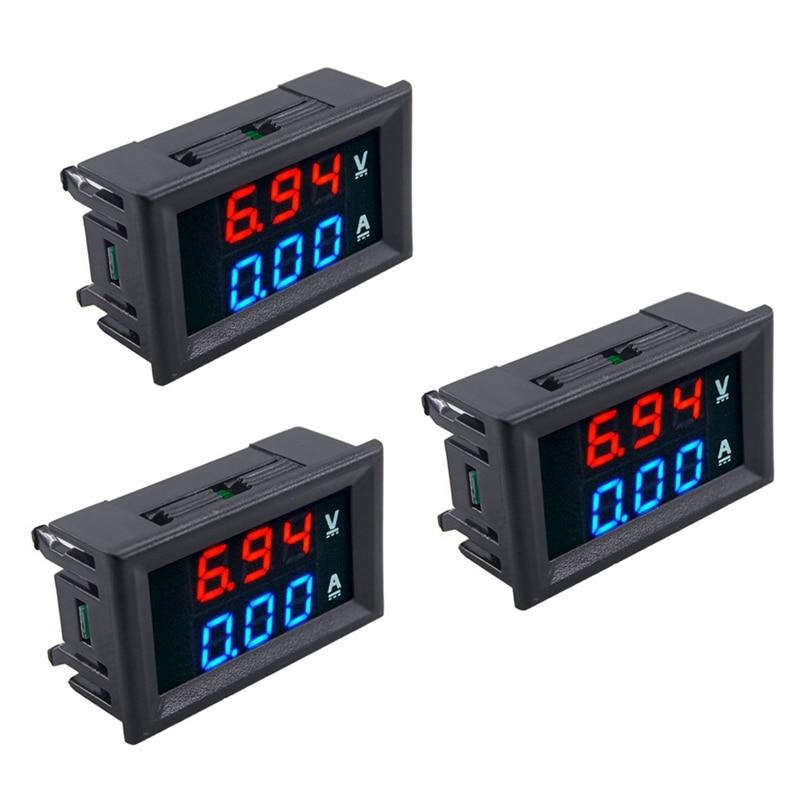 3pcs LED Digital DC 0 100V 10A Voltage Amp Volt Meter Panel Dual Voltmeter Ammeter Tester|Multimeters| |  - title=