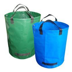 72 galon kapasiteli bahçe atık torbası dayanıklı yeniden kullanılabilir su geçirmez PP Yard yaprak otlar çim konteyner depolama