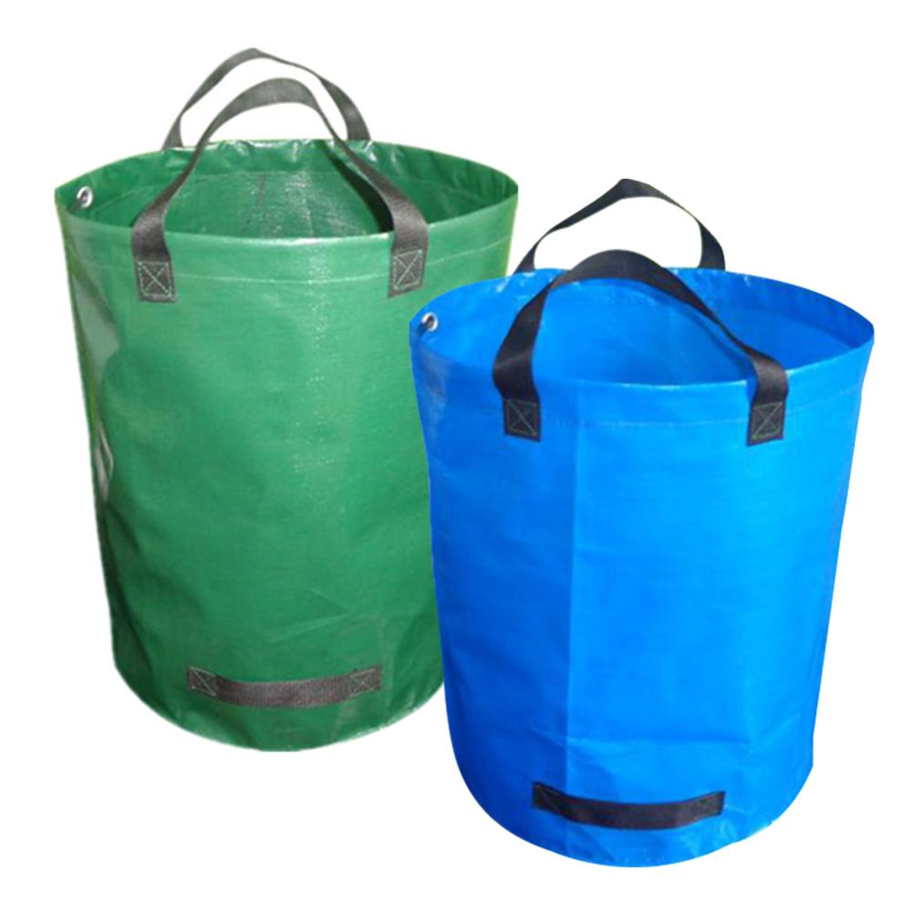 72gallon Capacity Garden Waste Bag Durable Reusable Waterproof PP Yard Leaf Weeds Grass Container Storage