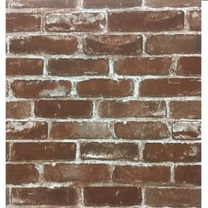 Image 2 - Rustic Vintage 3D Faux Brick Wallpaper Roll Vinyl PVC Retro Industrial Loft Wall Paper Red Black Grey Yellow Washable