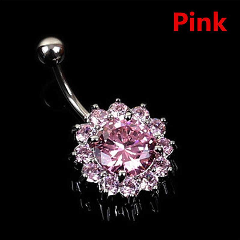 1 шт., сексуальное пирсинг, кольцо-подвеска для пупка, нержавеющая сталь, Кристальный пупок, пирсинг, ювелирное изделие