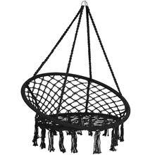 Висячие гамак стул Хлопок Веревка ручной работы висячий для