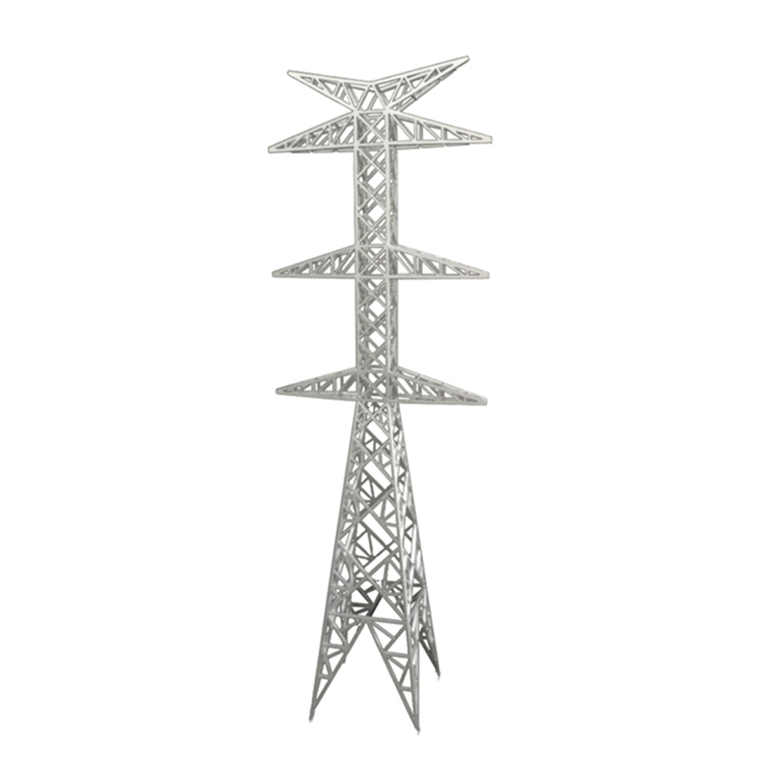 40 X 6.9 X 6.9cm DIY Sand Table Electric Tower Model Transmission Tower Decoration  Miniatures Landscape - Silver Grey