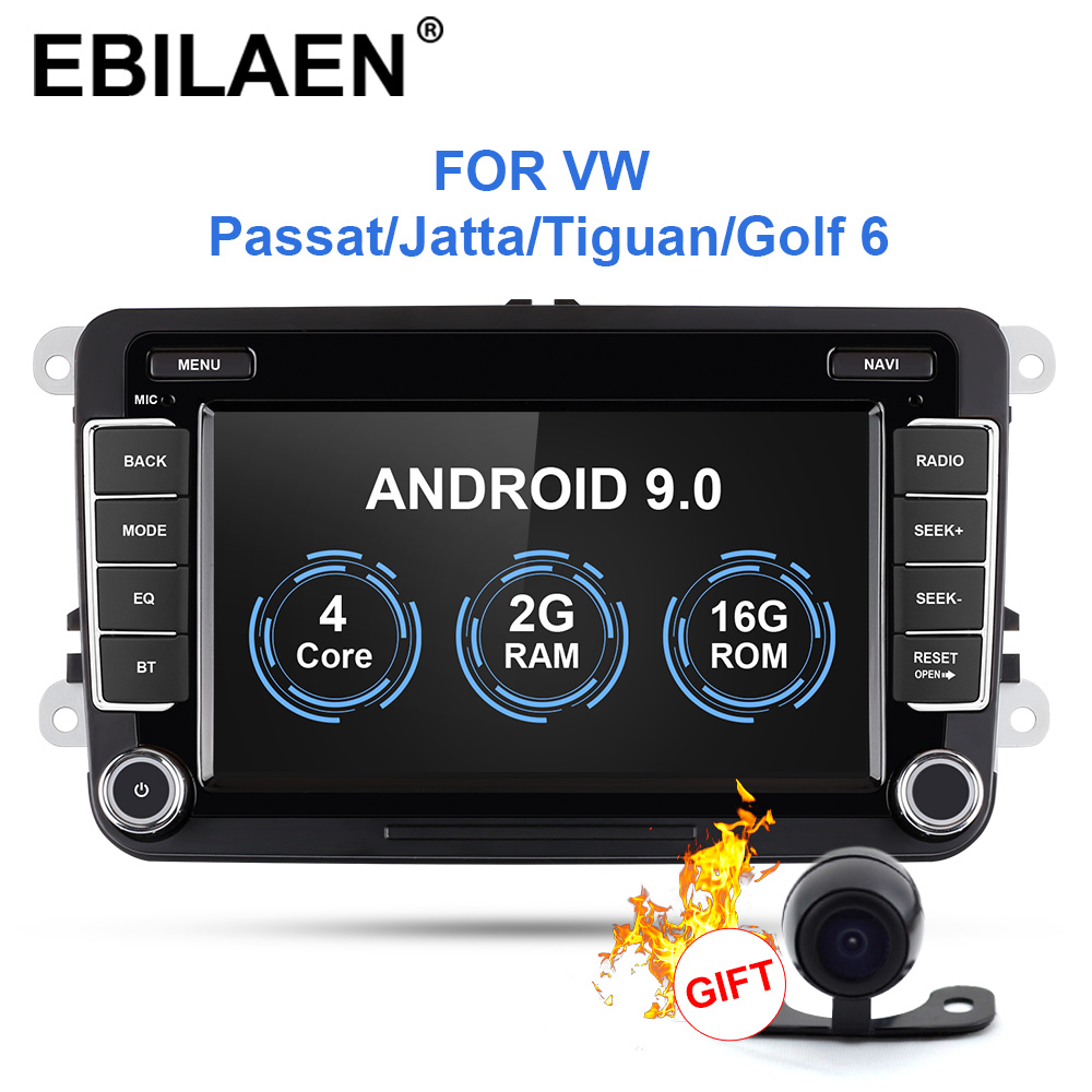 Car Radio Multimedia Player For <font><b>VW</b></font> Volkswagen Golf 5 6 Passat B7 B6 <font><b>JETTA</b></font> POLO Tiguan 1Din Android 9.0 Autoradio GPS Navigation image