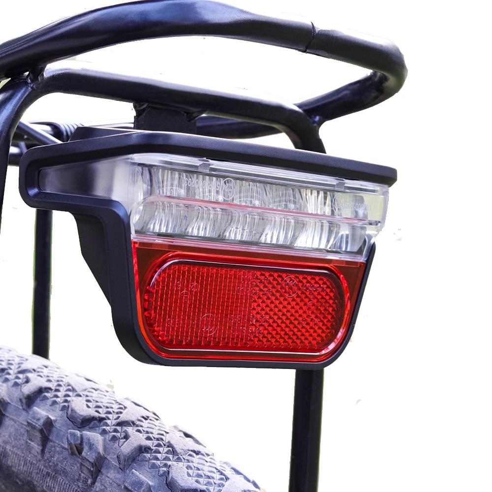 Onature e bike light set with 2 kinds mount way LED ebike headlight and ebike rear light both input DC 6V 12V 36V 48V 60V electric bicycle accessories in Electric Bicycle Accessories from Sports Entertainment