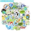 50 шт. креативные Мультяшные наклейки «Защита Земли», эстетический подарок, день окружающей среды, аниме водонепроницаемые наклейки для ноу...