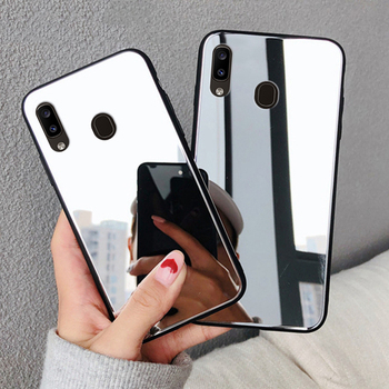 Makeup Soft Mirror Case for Samsung Galaxy A30s A50 A30 s A70 A40 A10 A20e Note10 S10 5G S8 S9 Plus S10e J4 J6 A8 2018 TPU Cover image