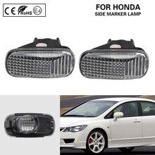2x Luce di Indicatore Laterale Del Segnale di Girata Della Lampada Oem per Honda Accord Civic Fit Jazz Flusso CR V Odyssey