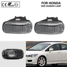 2x Side Marker Light Turn Signal lamp clear OEM for Honda Accord Civic Fit Jazz Stream CR V Odyssey