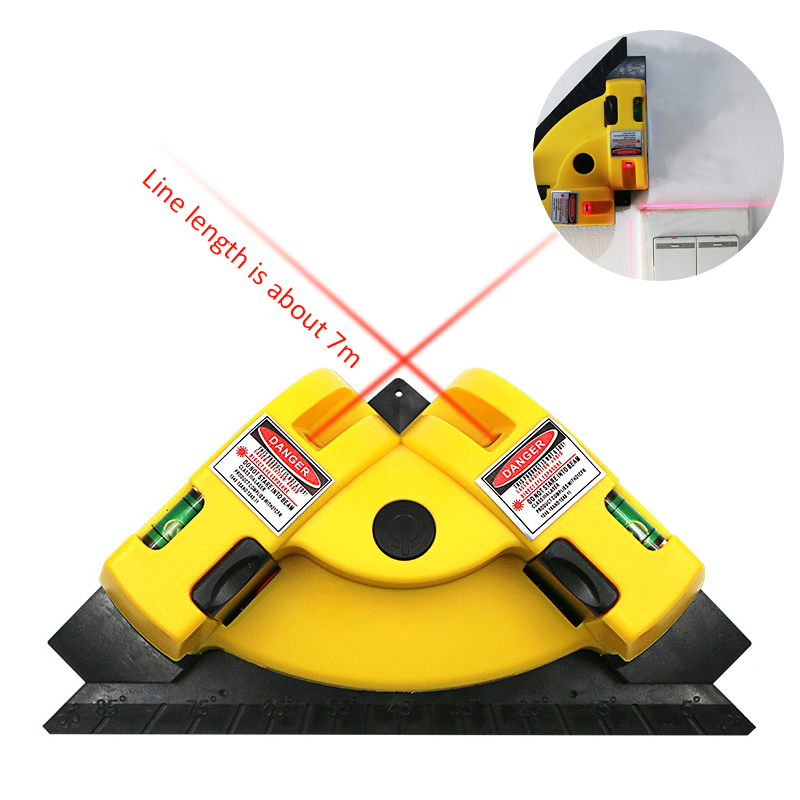 Right Angle Vertical Horizontal <font><b>90</b></font> Degree Laser Level Tool Laser Measurement Alignment Layout Tool Level Laser Laser Line Projec image