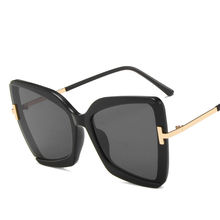 2020 большие солнцезащитные очки «кошачий глаз» женские новые
