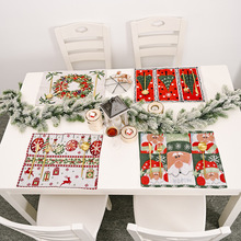 Tablecloth Placemat No Snowman Elk Holiday-Supplies Happy Christmas Knitted 42x34cm New-Year