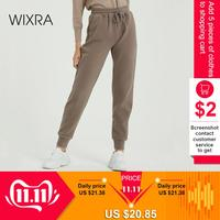 Wixra Women Casual Velvet Pants Autumn Winter Lady's Thick Wool Pants Women's Clothing Lace up Long Trousers