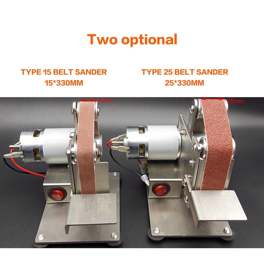 Multifunctional Grinder Mini Electric Belt Sander Polishing Grinding Machine Cutter Edges Sharpener Belt Grinder Sanding Sale Power Tool Accessories     - title=