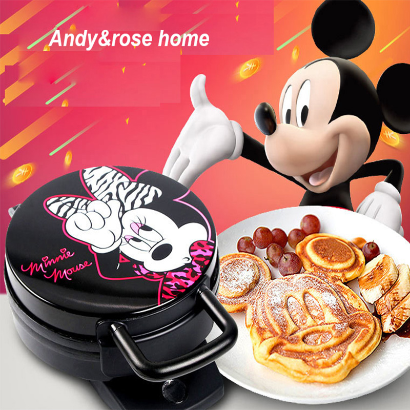 220V Cute Cartoon Shape Electric Waffle Maker Machine Breakfast Cake Baking Iron Plate Non-stick Waffle Machine Cake Maker