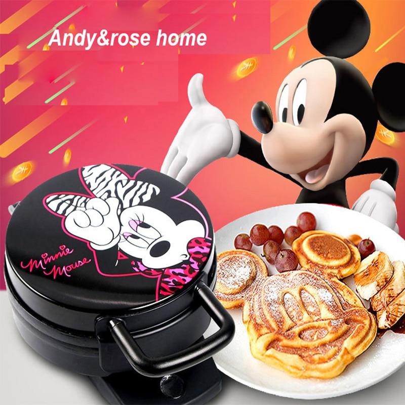 220V adorables formas de dibujos animados máquina eléctrica para hacer gofres pastel para el desayuno Placa de hierro para hornear máquina antiadherente para tortas