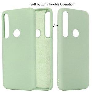 Image 4 - Vloeibare Siliconen Case Voor Motorola Moto G8 Plus Spelen Een Macro Soft Gel Rubber Beschermende