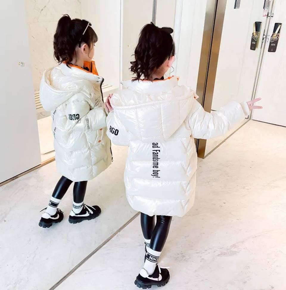 Jaqueta de inverno para crianças, jaqueta engrossada