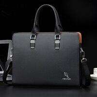 AUAU YUESKANGAROO Men's Business Messenger Bags Handbag Men Crossbody Bag Laptop Bag Laptop Briefcase for Men Shoulder Bags Blac