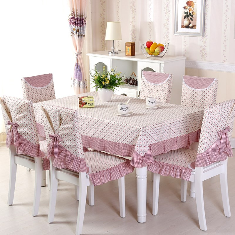 1/8/12 PCS Tablecloth Dining Chair Cover Quality Cotton Linen Seat Chair Cushion Kitchen Table Cloth Home Decor Pastoral Style
