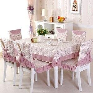 Mantel estampado funda para silla de comedor cubierta de asiento de lino de algodón de calidad cojín para silla de cocina mantel decoración del hogar estilo Pastoral
