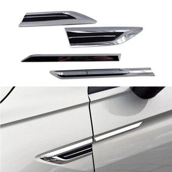 Dla 2016 2017 2018 Vw Tiguan Mk2 drzwi boczne skrzydło znaczek z symbolem naklejki wykończenia