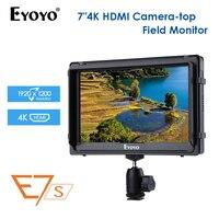 "nikon sony Eyoyo E7S 7"" פלט אינץ DSLR מצלמה צג 4K HDMI LCD מסך IPS FHD 1920X1080 תצוגה צג שדה DC עבור Nikon Sony Canon (1)"