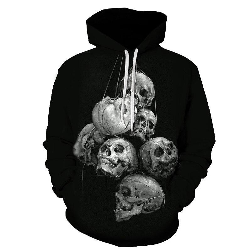 Autumn Fashion Skull 3D Hoodies Men Women Hoodie Casual Brand Sweatshirts Male Jackets Novelty Steetwear