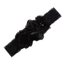 Hot Fiori di Pizzo Hairband Turbante Copricapi per Dell'infante appena nato Accessori Per Capelli IE998(China)