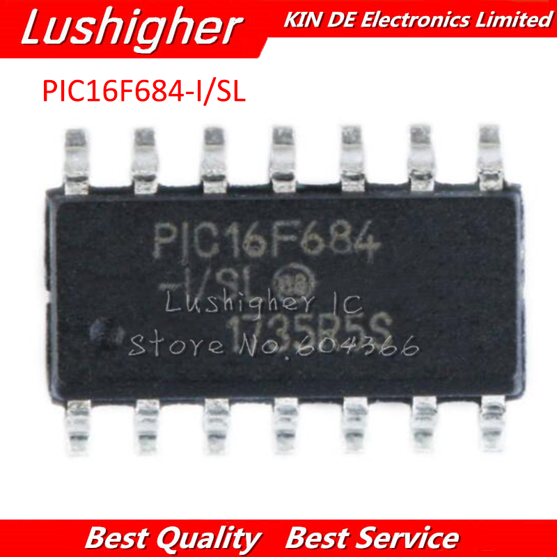 10PCS PIC16F684-I//P 16F684 DIP-14 IC MCU 8BIT 3.5KB FLASH NEW HIGH QUALITY