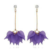 ZA Fashion Bohemian Round Flower Dangle Earrings For Women Big New Tassel  Earrings Girl Gifts Gold Color Jewelry Brincos