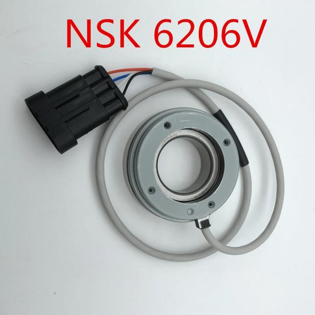 NSK 6206V 4 fils 2 canaux Quadrature vitesse encodeur pour chariot de Golf électrique chariot élévateur Curtis 1232/1234/1236/1238 contrôleur de moteur