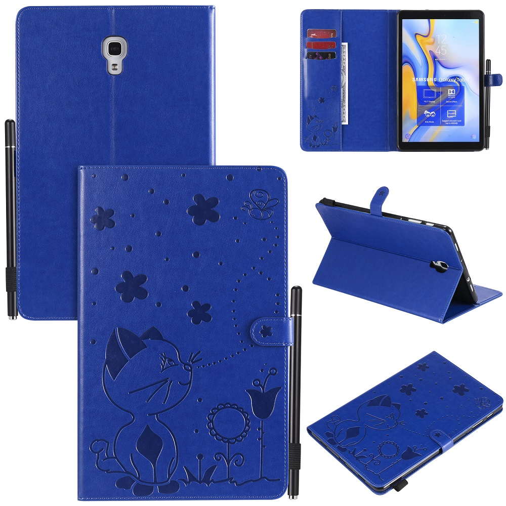 Smart Sleep Wake Up PU Leather Cover For Samsung Galaxy Tab A T590 T595 T597 10.5 Inch Tablet Protect Case Coque Capa+Pen
