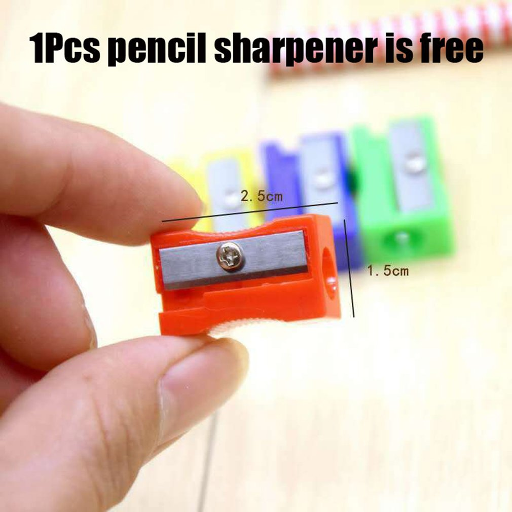 Plastic Small Pencil Sharpener Smooth Surface Sharp Core Use Effort Strong And Durable Office Supplies