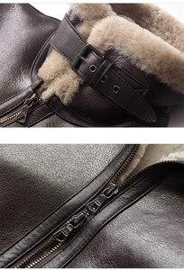 Image 5 - AYUNSUE Leather Jacket Natural Wool Fur Coat Winter Jacket Women Genuine Sheepskin Coat Female Streetwear Bomber Jackets MY4592