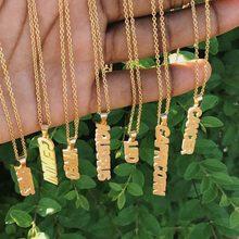 Nome da constelação colar pingente de aço inoxidável jóias ouro cor vertical zodiac longo colar presentes de aniversário