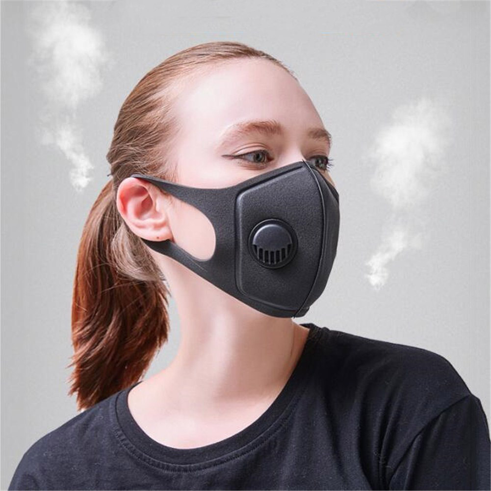Breath Valve PM2.5 Mouth Mask Anti-Virus, Influenza, Anti-Dust Anti Pollution Mask For Man And Woman Black Mask Mouth N95 Level.