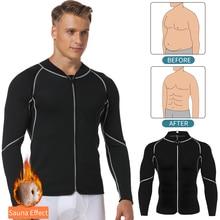 Mens Slimming Body Shaper Waist Trainer Abs Abdomen Slim Shapewear Weight Loss Tummy Reducing Sauna Suit Sweat Shirt Male Corset