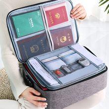 JOYBOS grand Document sac créatif multifonction fichier dossier voyage passeport carte ménage mot de passe boîte de rangement 4 couches JBS23
