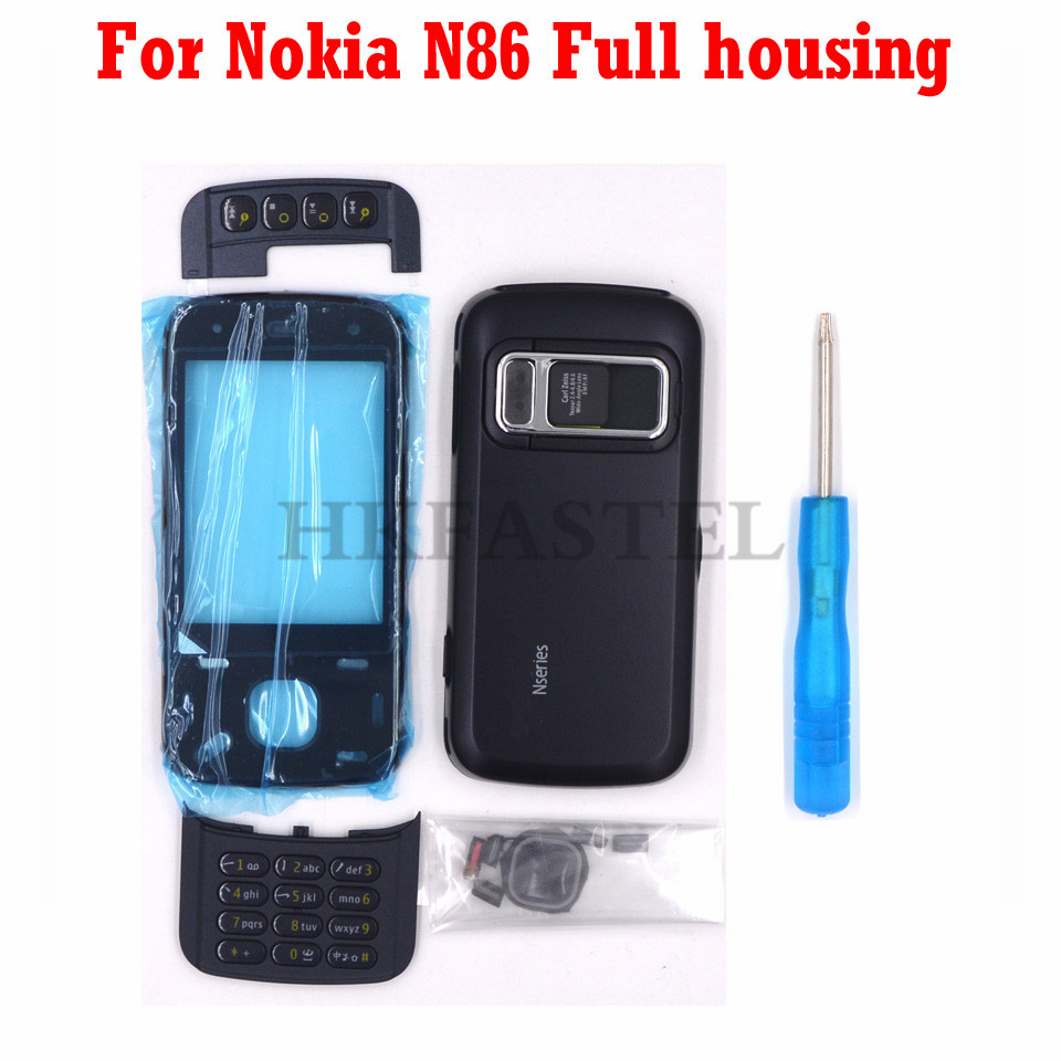 For Nokia N86 New Full Mobile Phone Housing Cover Case with English Keypad+Tool|Mobile Phone Housings & Frames| |  - title=