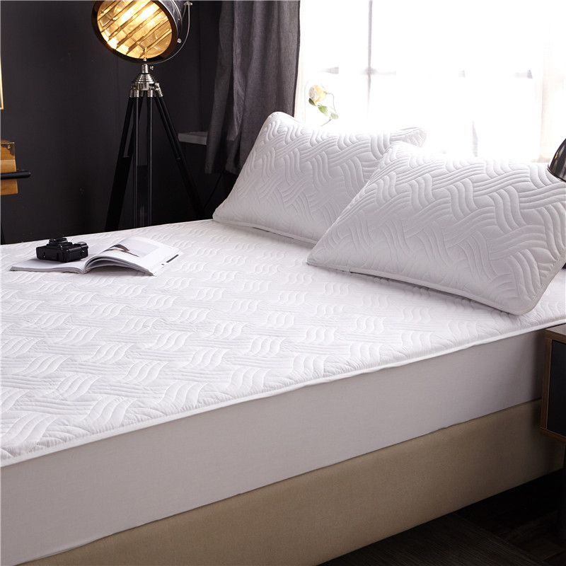 Bed Cover 100%cotton Fabric Quilted Mattress Protector Thicken King Mattress Topper For Bed Anti-mite Twin Bed Mattress Cover