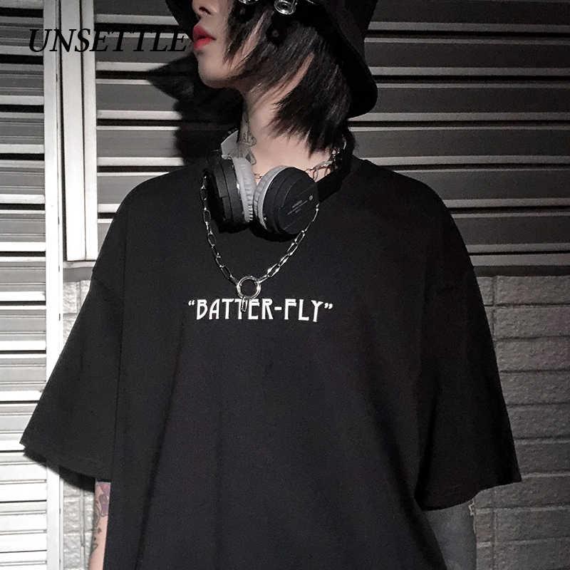 2020 Streetwear Hip Hop Oversizeเสื้อยืดผู้ชายHarajukuหลวมHipHopเสื้อยืดPlusขนาดสีผีเสื้อTshirtแขนสั้นผ้าฝ้าย