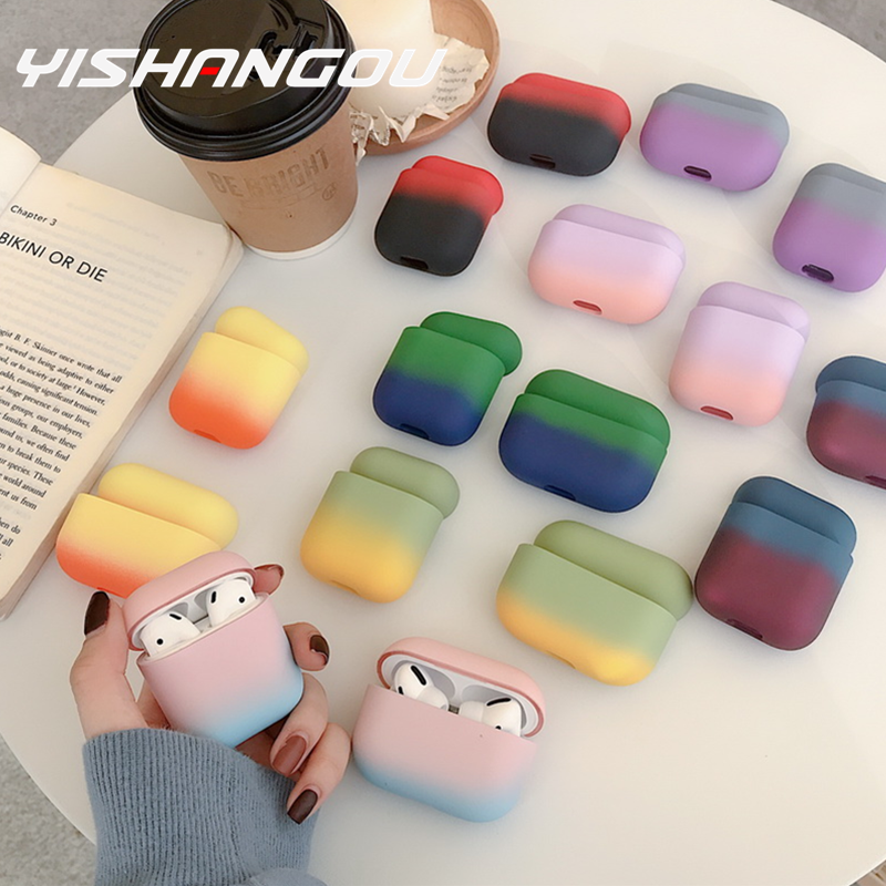 Original For Apple Airpods 1 2 3 Wireless Bluetooth Earphone Case Colorful For Apple AirPods Pro New PC Hard Cute Cover Box Case