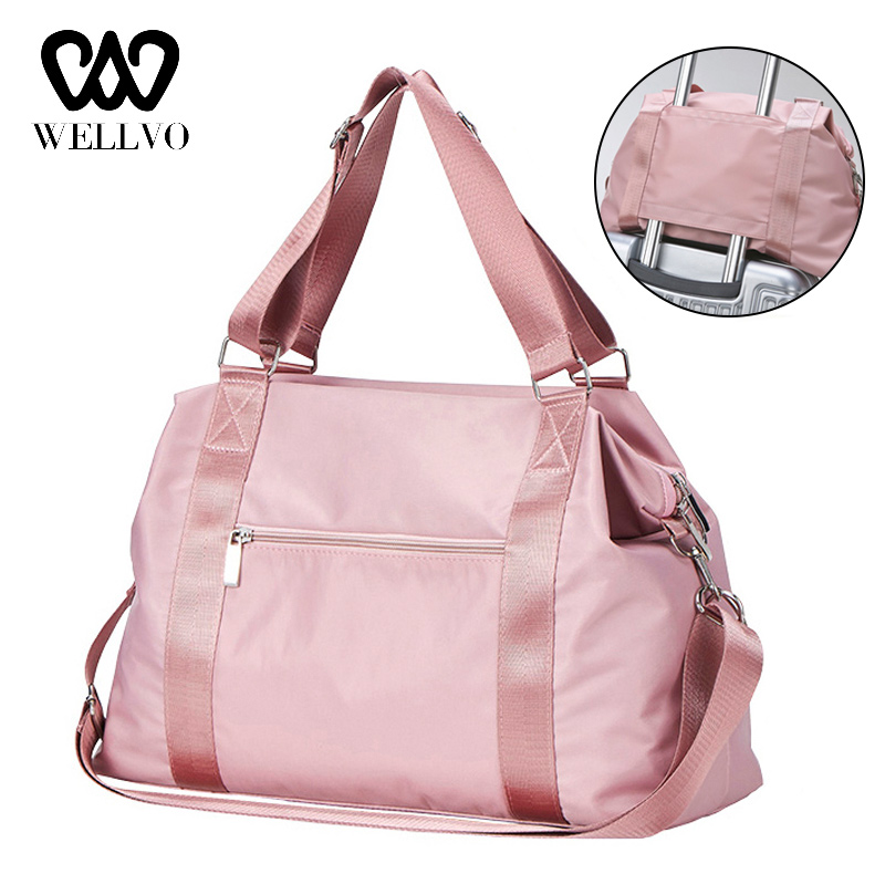 2019 Fashion Big Travel Bag For Women Unisex Travel Bag Carry On Luggage Duffle Tote Bags Nylon Weekender Overnight Bag XA793WB