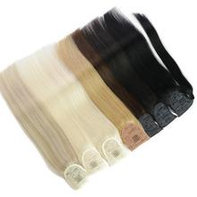 Extensions Human-Hair Pony-Tail Isheeny Remy-Wrap Natural Brazilian Real Straight Clip-In