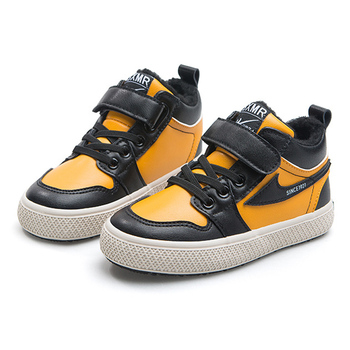 2020 New Winter Kids Sport Shoes Brand Boys Girls Warm Velvet Leather Boots Non-slip Fashion Sneakers Children Casual Shoes hot sale boys shoes children casual shoes girls new brand kids leather sneakers sport shoes fashion casual children boy sneakers
